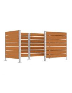Cache conteneur avec panneaux bois