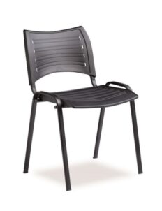 Chaise Reva en polyéthylène grise